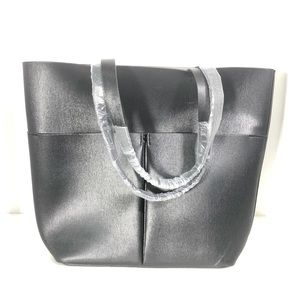 Neiman Marcus Vegan Leather Shopper Tote